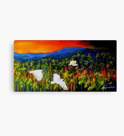 """Flight West""  Acrylic painting on canvas Canvas Print"