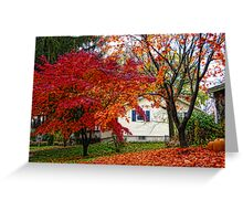 Beautiful colors of Fall Greeting Card