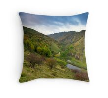 Autumn in Cressbrook Dale Throw Pillow