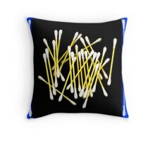 Q-Tips Throw Pillow
