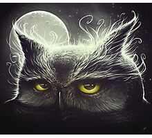 Owl & The Moon Photographic Print