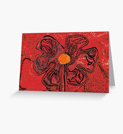 red flower power Greeting Card