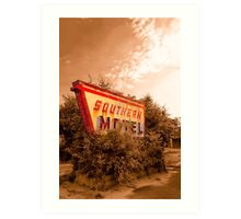 Sleeping At The Southern Motel Art Print