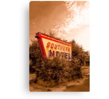 Sleeping At The Southern Motel Canvas Print