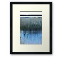 Boat with stripes and drips Framed Print