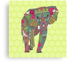 painted elephant chartreuse Canvas Print