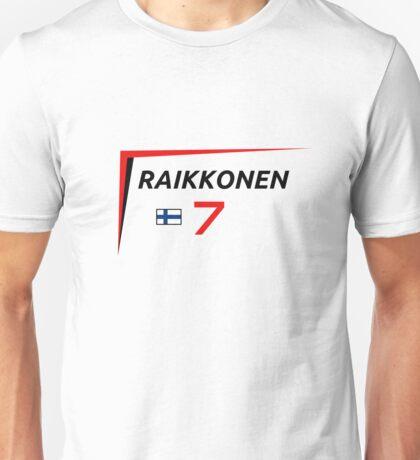 F1 2015 - #7 Raikkonen [v2] Unisex T-Shirt