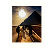 Footsteps of the Ancients - The Great Pyramid Art Print