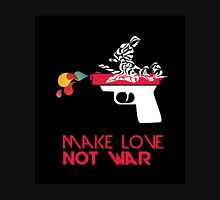 Make Love Not War - Gun - Black Unisex T-Shirt