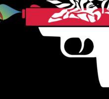 Make Love Not War - Gun - Black Sticker