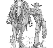 Goat Roping Event by Gail Finger