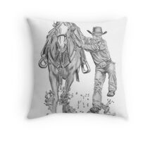 Goat Roping Event Throw Pillow