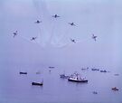 Out of The Haze, The Red Arrows, Broadstairs, Kent 1980 by Colin  Williams Photography