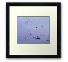 Out of The Haze, The Red Arrows, Broadstairs, Kent 1980 Framed Print