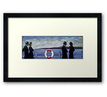 Amost unhappy ship. Framed Print