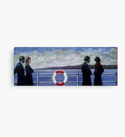 Amost unhappy ship. Canvas Print