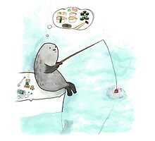 Fishing seal by ElyaPingster
