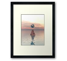 Earth Above The Sea Framed Print