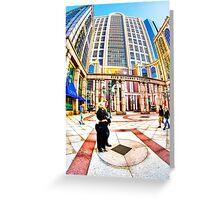 Caught In Geometry - Boylston Street in Boston Greeting Card