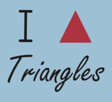 I love Triangles Kids Tee