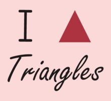 I love Triangles Kids Clothes