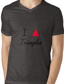I love Triangles Mens V-Neck T-Shirt