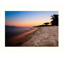 Red Sea Sunset - Egyptian Sinai Landscape Art Print