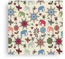 Elephants pattern Canvas Print