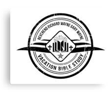 Unbreakable Kimmy Schmidt - Richard Wayne Gary Wayne Vacation Bible Study Black on White Canvas Print