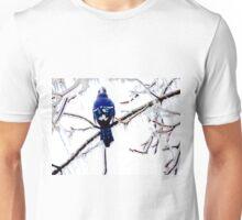 A Blue Blue Jay in Winter Unisex T-Shirt