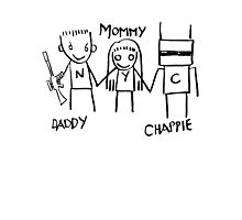 Daddy Mommy Chappie Photographic Print