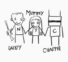 Daddy Mommy Chappie One Piece - Short Sleeve