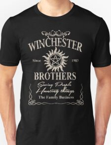 Winchester Since 1983 Brothers Saving People Hunting Things The Family Business - TShirts & Hoodies T-Shirt
