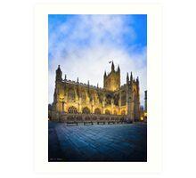 Golden Dusk at Bath Abbey Art Print