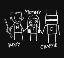 Daddy Mommy Chappie Kids Tee