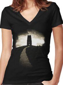 Dark Tor Women's Fitted V-Neck T-Shirt