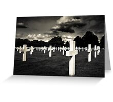 Fields Of The Lost - American Cemetery Greeting Card