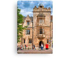 Streets of Cambridge England Canvas Print