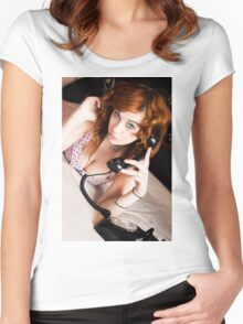 Vintage Doll Women's Fitted Scoop T-Shirt