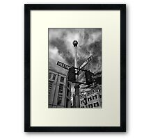 Market and Meeting Framed Print