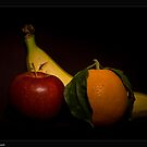 fruit on black by Andrea Rapisarda