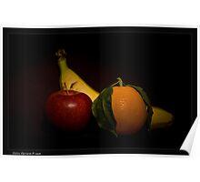 fruit on black Poster
