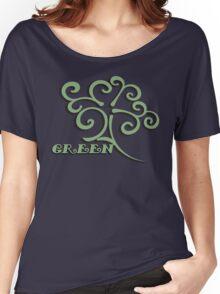 Green Women's Relaxed Fit T-Shirt