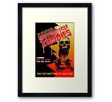 Motorcycle Zombies Framed Print