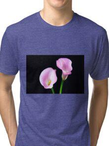 Two Pink Calla Lilies Tri-blend T-Shirt