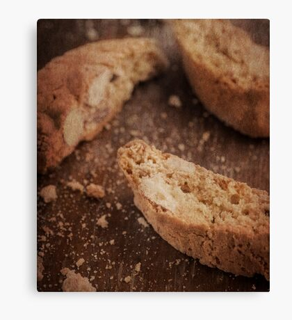 Still life of Italian almond cookies Canvas Print