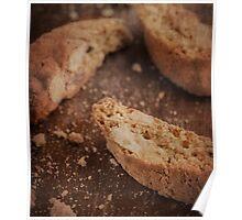 Still life of Italian almond cookies Poster