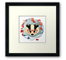 Christmas Wildlife: Badger Framed Print