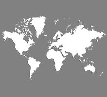 World Splatter Map - wtrue gray by Mark McKinney