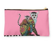 ring tailed lemur love pink Studio Pouch